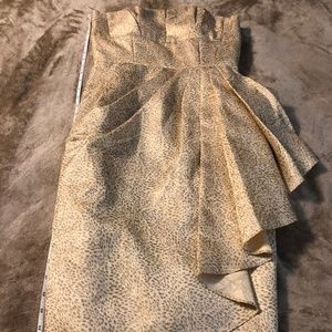 MAGGY LONDON FORMAL GOLD SHIMMER DRESS